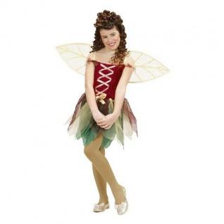 Waldfee Lissy Kostüm Gr. 116 Kleid mit Flügeln Fee Elfe Schmetterling Mädchen