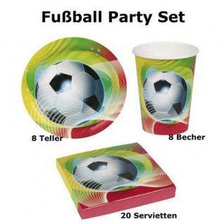 36tlg. Fußball Partyset Kindergeburtstag Geburtstag Teller + Becher + Servietten