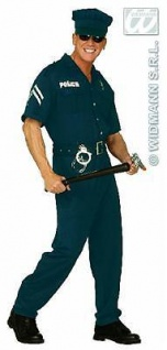 S4425 Kostüm Polizist - Cop - Gr. L 52 54 Karneval Polizisten-Kostüm Polizei