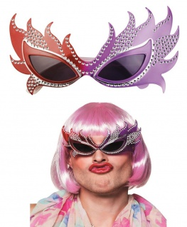 DRAG QUEEN BRILLE - Kostüm Accessoire Karneval Motto Party Sonnenbrille #2605