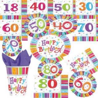 18 30 40 50 60 70 80 Geburtstag Deko Tischdeko Party Jubiläum Zahl VIEL AUSWAHL