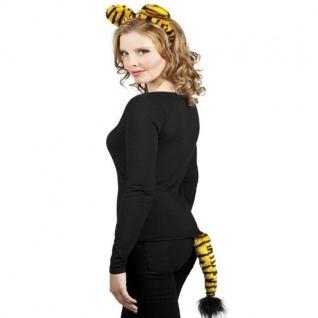 Tiger Set 2-tlg. Haarreif und Schwanz - Tier Kostüm-Set NEU