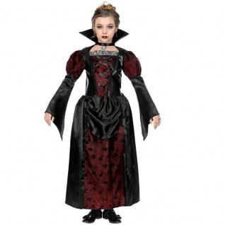 KINDER VAMPIRIN KOSTÜM Mädchen Vampir Dracula Kleid Halloween 128 140 158 #7023