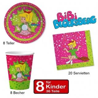 Party Set BIBI BLOCKSBERG - Teller Becher Servietten - für 8 Kinder Geburtstag -