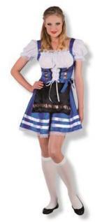 Damen Kostüm Dirndl Gr. L 42 - 44 Helena blau Bayern Trachten Oktoberfest