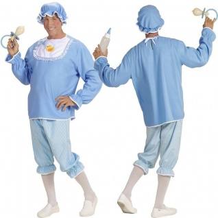 BABY BOY Junge Gr. XL (54) Herren Kostüm Erwachsene Srampler Babykostüm babyblau