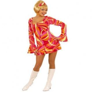 HIPPIE KLEID ROT 70er Jahre Stil Gr. L 42 44 Damen Kostüm Fasching Karneval