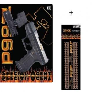 Special Agent P99 + Licht Zielvorrichtung + 200 Schuss Kinder Pistole Spielzeug