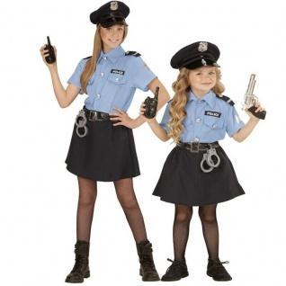 POLIZISTEN KOSTÜM & HUT KINDER Polizistin Polizei Rock Bluse Mädchen 0400