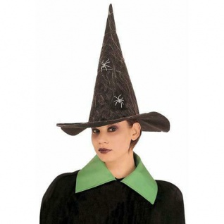 HUT MIT SPINNENWEBEN HEXE Halloween Karneval