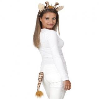 Giraffe Set 2tlg. Haarreif und Schwanz - Tier Kostüm-Set NEU