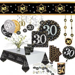 30. Geburtstag Dekoration mit runder Zahl 30 Party Tisch-Deko AUSWAHL 1