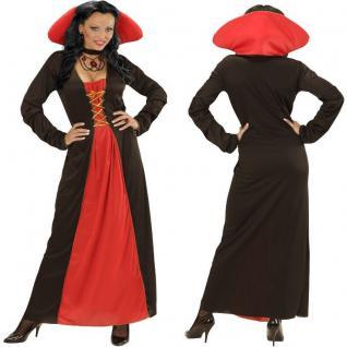 Vampir Kostüm Vampirin VICTORIAN VAMPIRESS Damen Kleid Barock S, M, L, XL #0042
