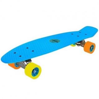 Nijdam® Retro Skateboard Blau Komplett Board Penny Minicruiser Mini Cruiser 52NF