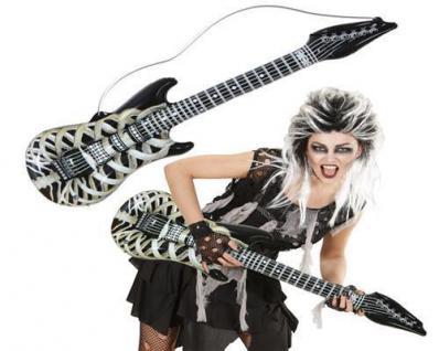 Aufblasbare Luftgitarre 105cm - SKELETT - Luft Gitarre Air Musikinstrument #4753