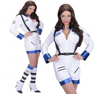 Sexy Astronautin -38/40 (M) - Damen Kostüm Weltraumfahrerin Nasa Jumpsuit 1102