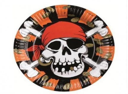 8 x Teller Piraten Party Kindergeburtstag Piratenparty Einweggeschirr
