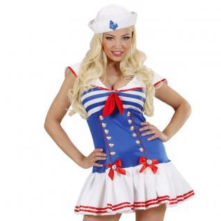 Sailor Girl Matrosin Damen Kostüm Marine Matrose Kleid Mütze AUSWAHL S M L