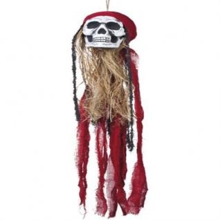 PIRATEN TOTENKOPF 90 cm Halloween Dekoration Piraten Party Skelett