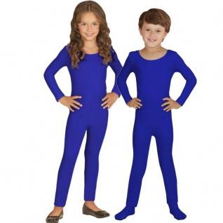Einteiler Kinder Body Overall Jumpsuit lang Sport blau Langarm Kostüm 116-152