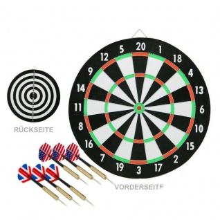 BEST Dartboard Dartscheibe 45 cm mit 6 Messing-Pfeile zweiseitig #2109