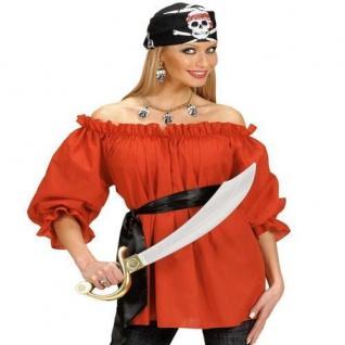 Piratenbluse rot Gr. M/L 38-42, XL 46-48 Piratin Pirat Bluse Karneval Fasching