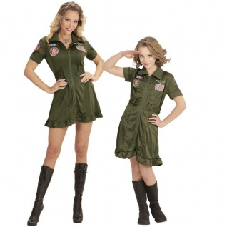 Jet Pilotin Top Gun Partner Kostüm für Damen Mädchen Kinder - Kampfjet Flieger
