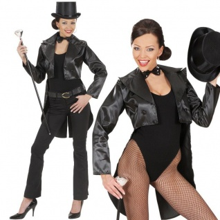 Showgirl SATIN FRACK Damen Kostüm Gr. 42/44 (L) Karneval Fasching Tänzerin #8791