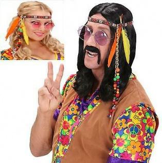 70er JAHRE STIRNBAND Hippie Flower Power Kostüm Zubehör Karneval Fasching