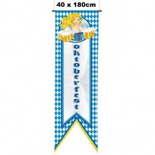 Bayrischer RAUTEN BANNER Fahne Oktoberfest Wiesn Deko Straßenbanner 1, 80 x 0, 40m