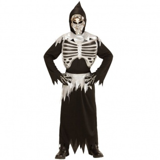 GRIM REAPER 158 Kinder Kostüm 11-13 Jahre Sensenmann TOD Skelett Halloween 3998