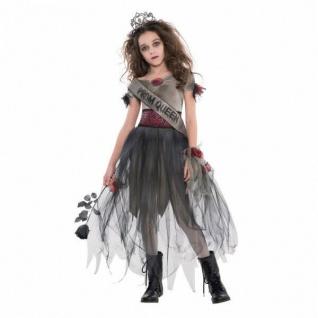 Halloween Zombie 5tlg. Kostüm Mädchen 152/158 Abschlussball Königin Kinder #6997