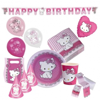 Charmmy Kitty Hello Kitty Kinder Geburtstag Party - Deko Geburtstag-Set