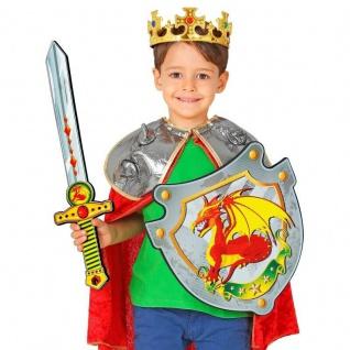 Ritter Set - Drachenritter Schwert & Schild - Schaumstoff Kinder Spielzeug Waffe