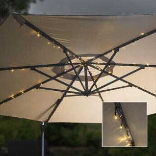 72 LED Solar Lichterkette für Sonnenschirme Beleuchtung Garten Licht #5060