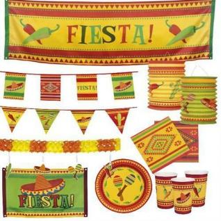 Fiesta Mexicana Mexico Party Mottoparty Deko Feier Servietten Teller Wimpelkette