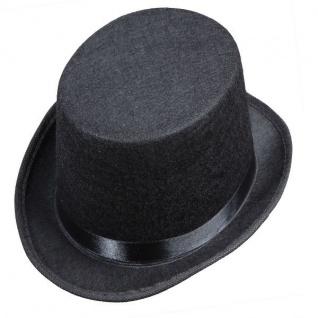 Kinder Zylinderhut schwarz Kostüm Zylinder Hut Chapeau Hochzeit Fasching 52 cm