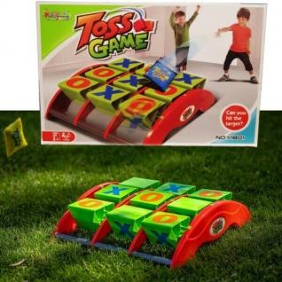 Sandsack Wurfspiel Set TIC TAC TOE Geschicklichkeitsspiel Board Kinder Spiel