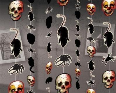 8 KETTEN HORROR CLOWN Creepy Carmival 1, 80cm Halloween Raumdeko Dekoration