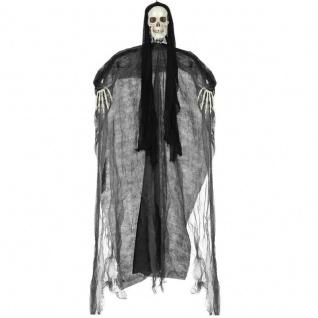 Sensenmann Tod Deko Figur Skelett Geist Hängefigur 153 cm Halloween schwarz 3238