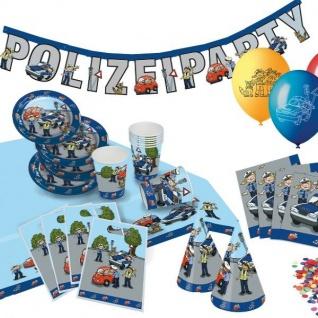 POLIZEI Fete Kinder Geburtstag Party Deko Motto Party
