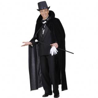 SAMTUMHANG Graf Dracula Umhang Vampir Cape schwarz Halloween Kostüm Gewand #507