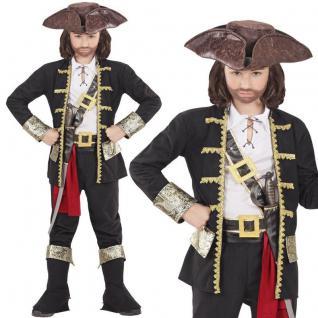 Rob Pirat Piraten Kapitän Jungen Kinder Kostüm - Komplett-Set Karneval Fasching