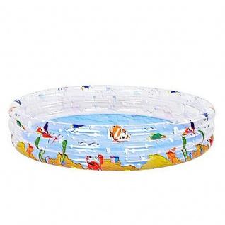 Kinder Planschbecken Pool OCEAN FUN 3 Ring Pool Ø 170 x 53 cm transparent #4562