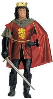 Kostüm König Gr. L, Hemd, Hose, Umhang, Schuhcover und Krone - Widmann