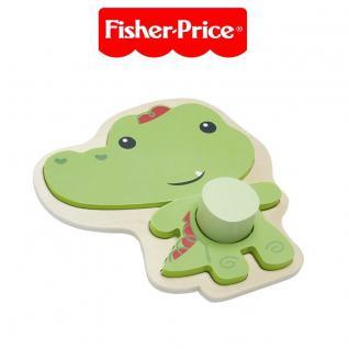 Happy People 41220 Fisher-Price tierisches Holz Puzzle Legepuzzle Legespiel
