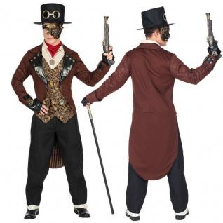 Exklusives STEAMPUNK Herren Kostüm mit HUT - viktorianisch Fantasy Wave Gothic