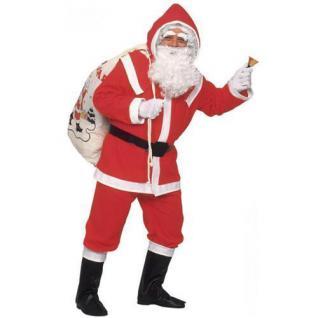WEIHNACHTSMANN KOMPLETT SET Nikolaus Santa Claus Kostüm S/M/L Einheitsgröße