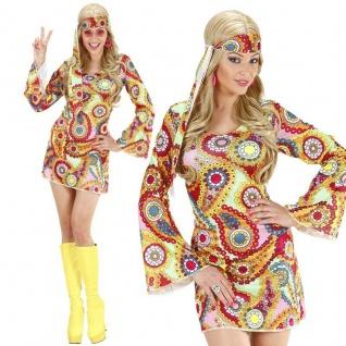 60er 70er Jahre DISCO GIRL KLEID Hippie Damen Kostüm Retro - Karneval Fasching