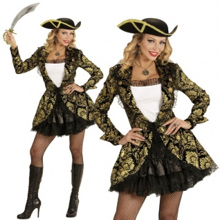 Piratenbraut Piratin Deluxe Damen Kostüm Gr. M (38/40) Karneval Fasching #9112